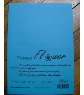 Ram 20 feuilles ft A4 120grs BLEUET Flower Power
