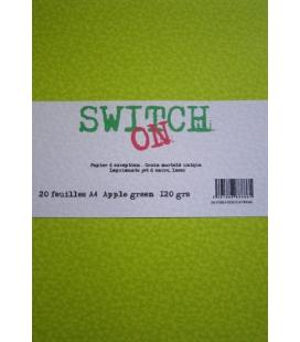 Ram 20 feuilles APPLE GREEN Switch-On ft A4 120 grs