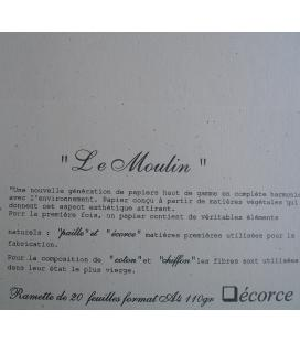 20 feuilles LE MOULIN ECORCE 110GRS FT A4