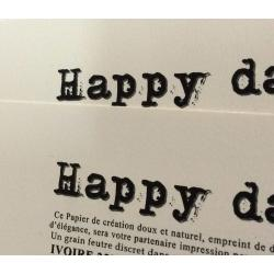 Grain feutre Ivoire 20 feuilles A4 happy day
