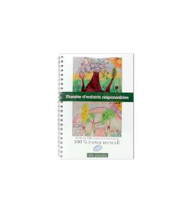 "Carnet multicolor ""Planete d'enfants Responsables"" FT A4"