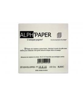 20 square envelopes 150x150 Alph Paper white DL 130g