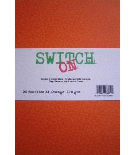 Ram 20 feuilles ORANGE Switch-On ft A4 120 grs