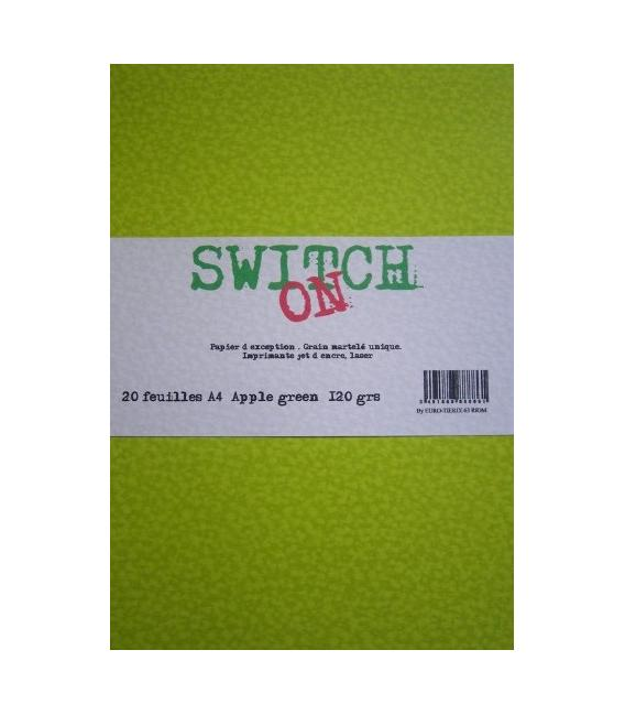 Pq de 20 enveloppes  APPLE-GREEN Switch-On ft 114x162