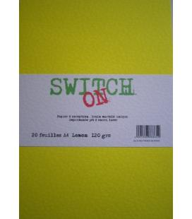 Pq de 20 enveloppes  LEMON Switch-On ft 114x162