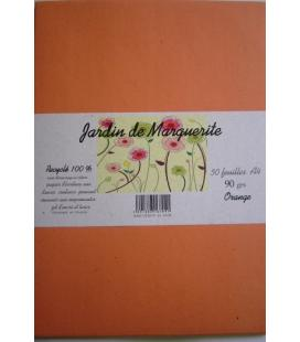 Kraft ORANGE A4 90grs Jardin de Marguerite 50 feuilles