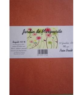"Ream 50 kraft foils BROWN COLOURING A4 90 ""Jardin de Marguerite"""