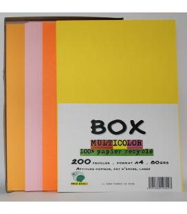 Box 200 multicolor recycled foils A4 80grs