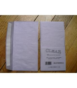10 envelopes tracing paper laid paper BLUEBELL 10x220 100g