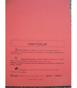 CARTCOLOR 220GRS ORANGE - 20 feuilles FT A4