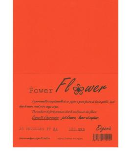 Ream 20 foils A4 120grams orange flower power