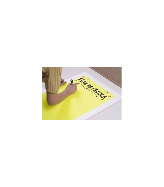 100 foils POSTER NEON YELLOW A4 110g