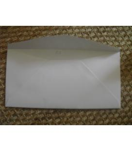 WHITE - box of 500 envelopes 110x220 DL 100% recycled
